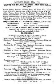 1940's Souvenir Programme 1
