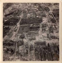 Some more of Fred's personal collection showing reconnaissance photographs taken by the RAF after bombing missions in Germany. The targets are not identified.